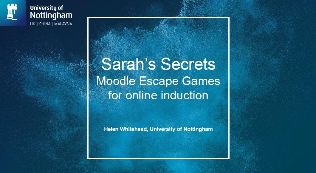 Sarah's Secrets image